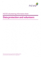 Volunteering Information Sheets: Data protection and volunteers