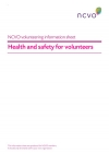 Volunteering Information Sheets: Health and safety for volunteers
